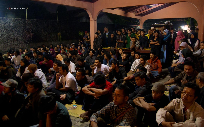 Audiens pada acara Peringatan 45 Tahun Persada Studi Klub di Rumah Budaya EAN. Foto 05. Foto oleh Adin Progress. Dok Progress.