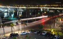 Gemerlap kota Rabat dilihat dari atas hotel