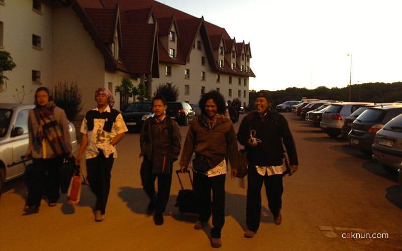 Rombongan KiaiKanjeng tiba di Universitas Al-Akhawayn