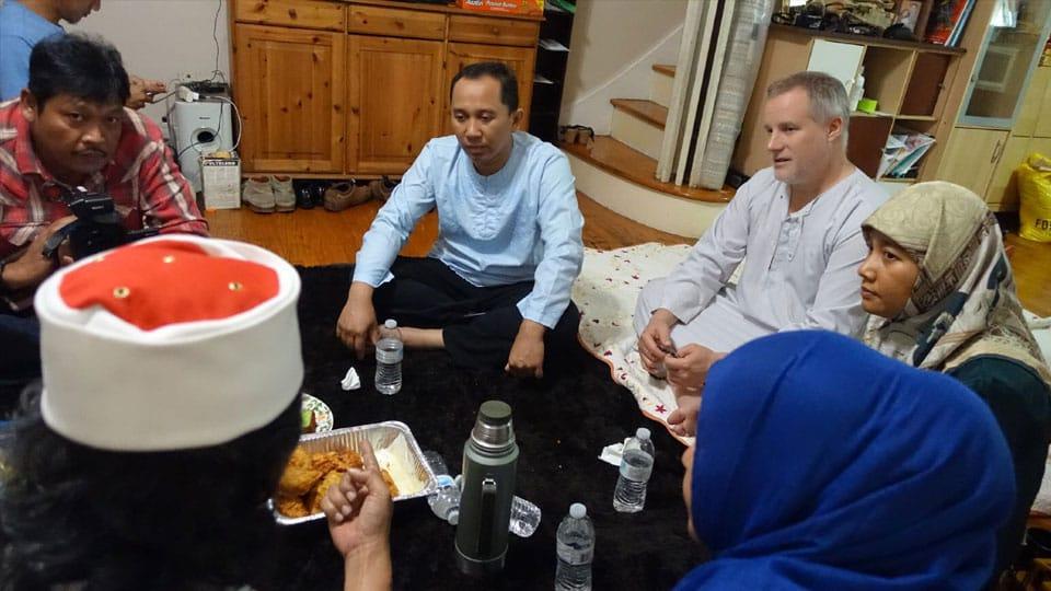 Beramah tamah dengan warga Indonesia di Amerika
