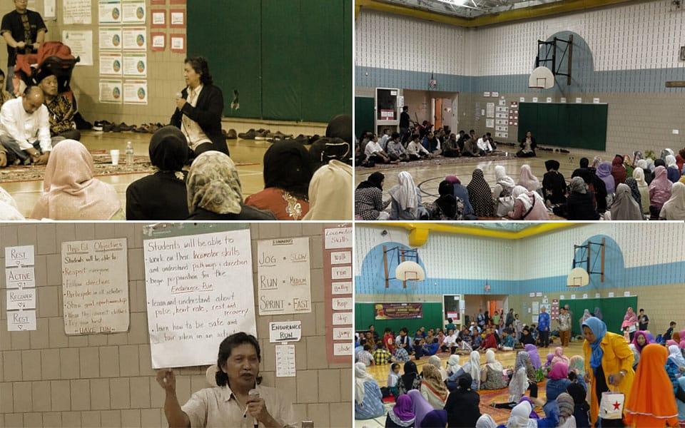 """Cak Nun memberikan taushiah bertajuk """"Membangun Generasi yang Robbani"""" di Madrasah IMAAM, Washington DC."""