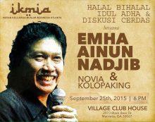 Halal Bihalal Idhul Adha dan Diskusi Cerdas bersama Cak Nun dan Novia Kolopaking