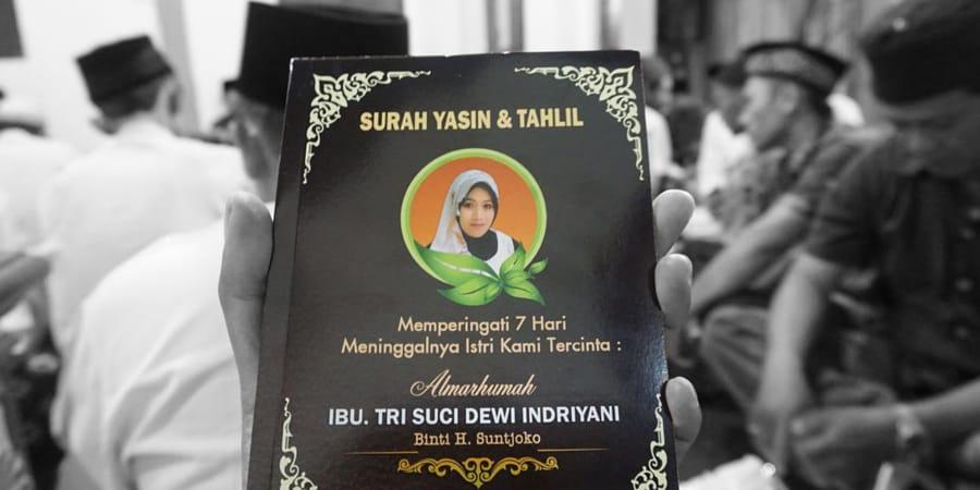 Tahlilan Tujuh Hari Wafat Mbak Dewi Islami