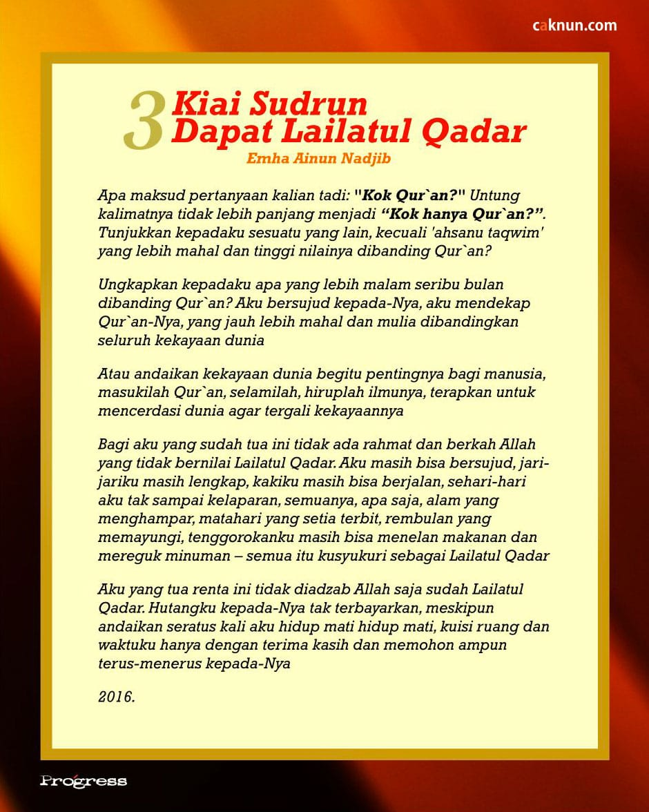 Kiai Sudrun Dapat Lailatul Qadar (3)