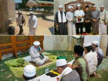 Cak Nun melaksanakan shalat Jumat di Masjid Sabilal Muhtadin