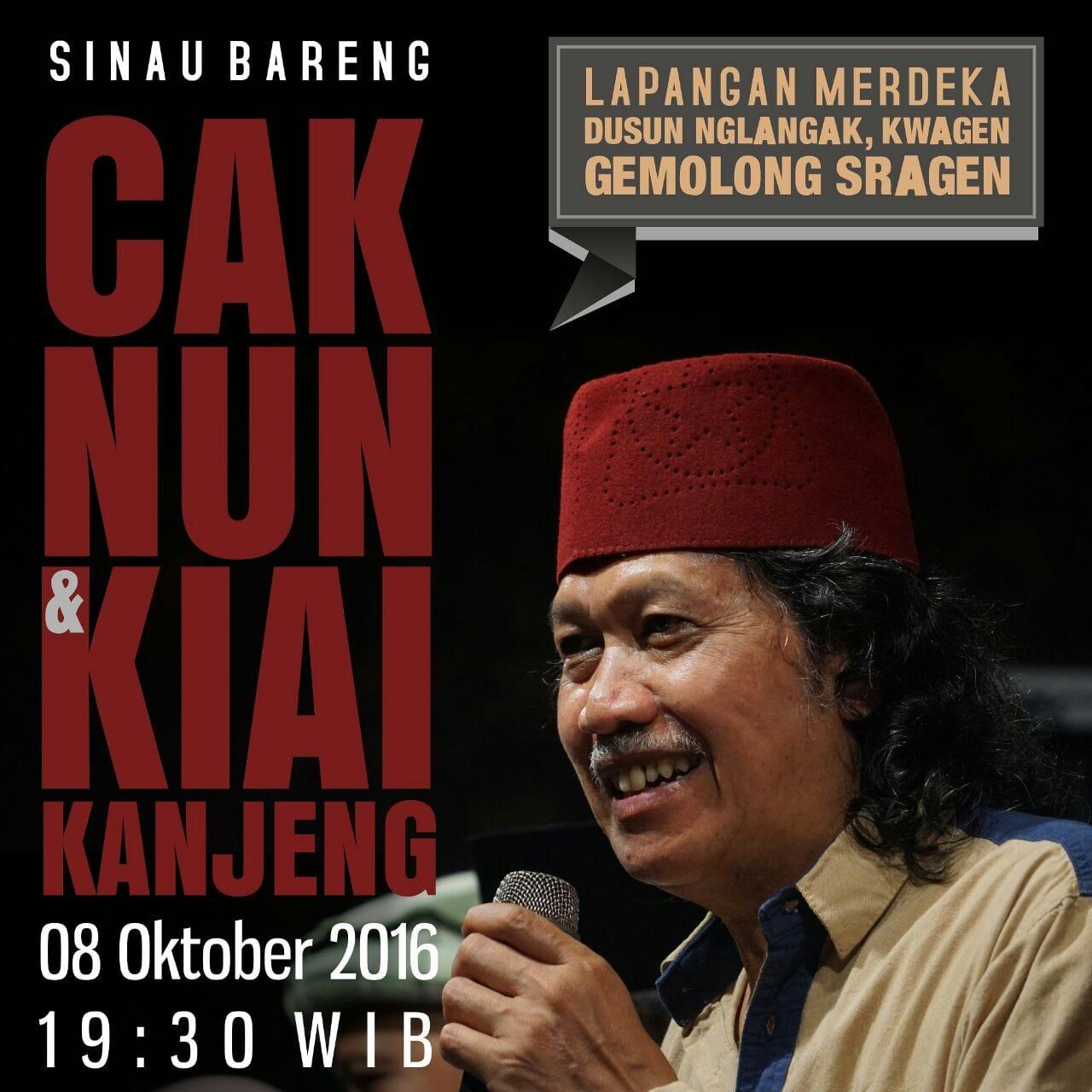 Sinau Bareng Cak Nun KiaiKanjeng, Gemolong, Sragen, 08 Oktober 2016