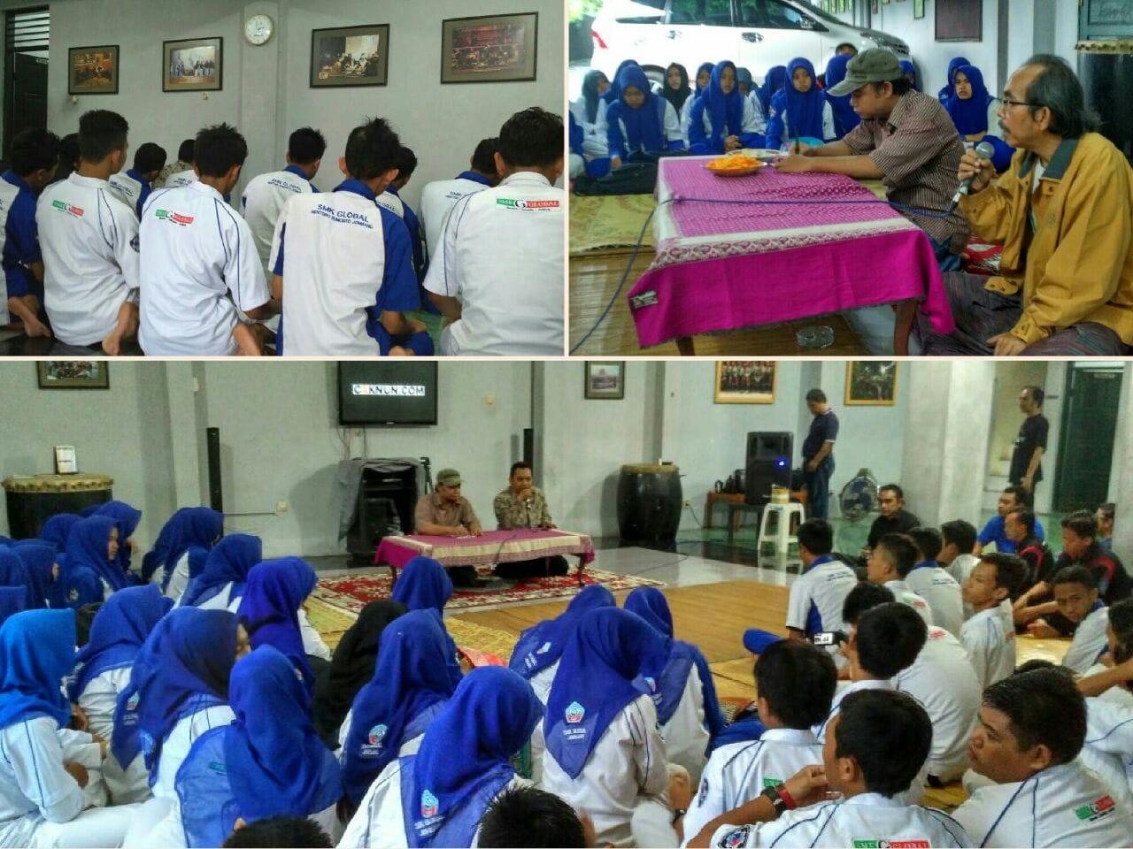 Siswa SMK Global Menturo Sinau di Rumah Maiyah