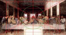 Pola geometris pada lukisan The Last Supper