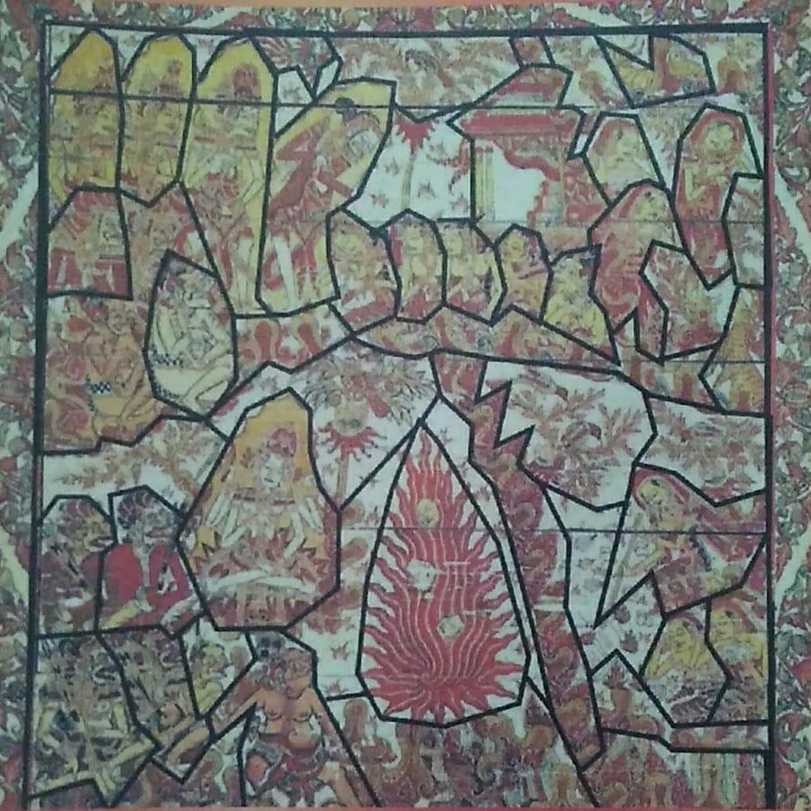Pola geometris pada lukisan Smaradhana