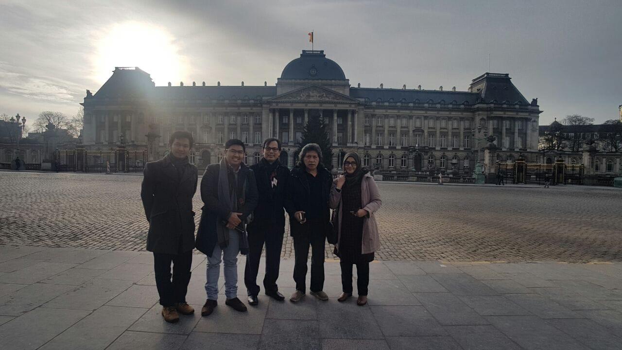 Palais Royal de Bruxelles di Brussel.