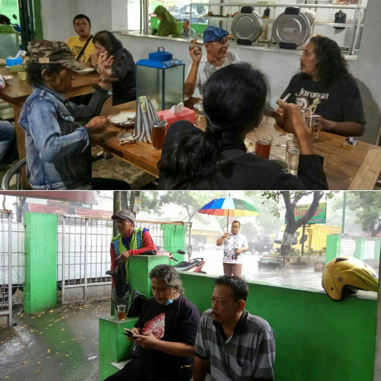 Hujan Menemani Perjalanan KiaiKanjeng ke Madiun