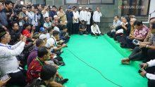 Sebelum Sinau Bareng dimulai, panitia menggelar konferensi pers bagi awak media.