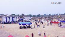 Suasana Bukit Jamur sore ini sebelum digelar Sinau Bareng Cak Nun dan KiaiKanjeng.