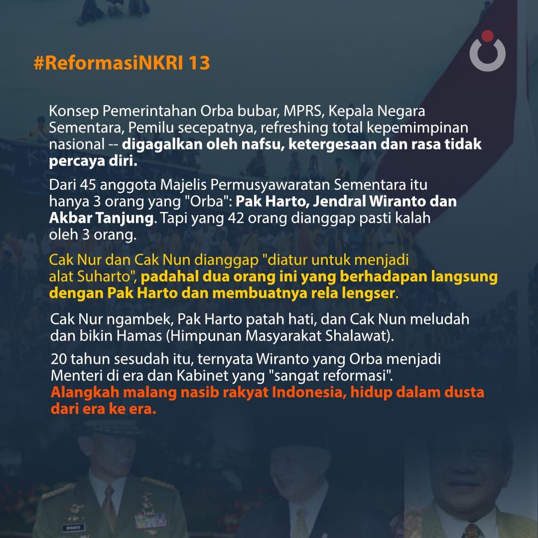 Reformasi NKRI, 13