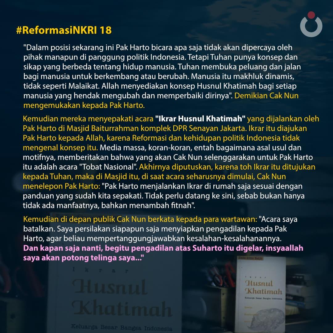 Reformasi NKRI, 18