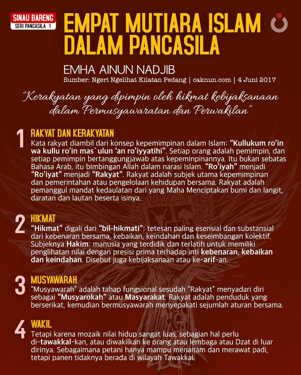 Seri Pancasila 1 | Empat Mutiara Islam dalam Pancasila