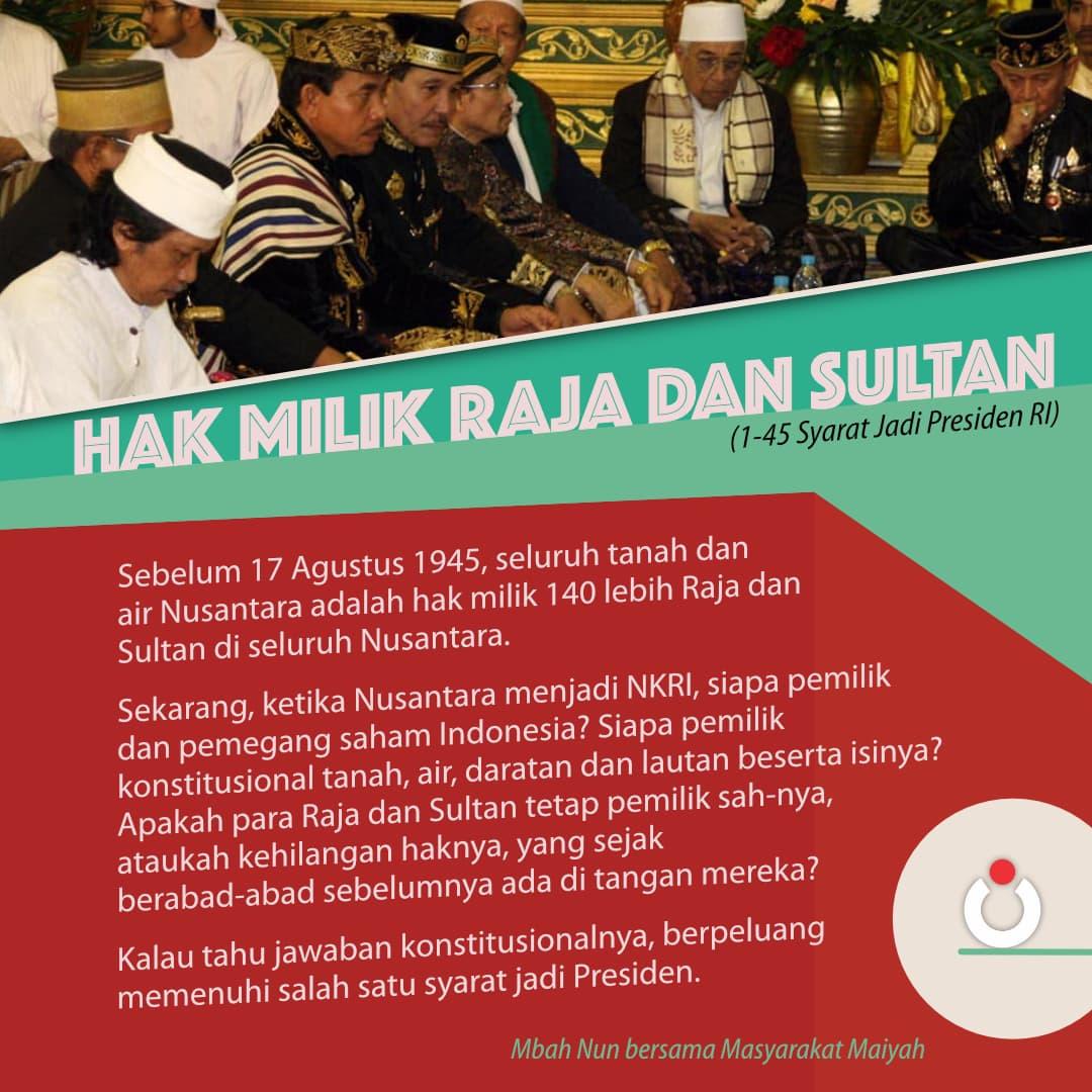 Hak Milik Raja dan Sultan