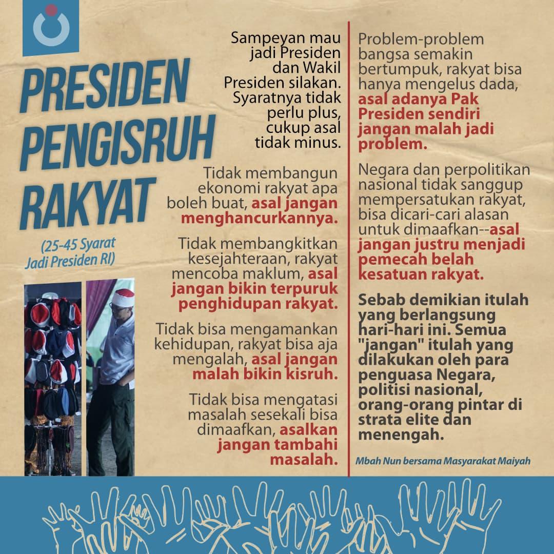 Presiden Pengisruh Rakyat
