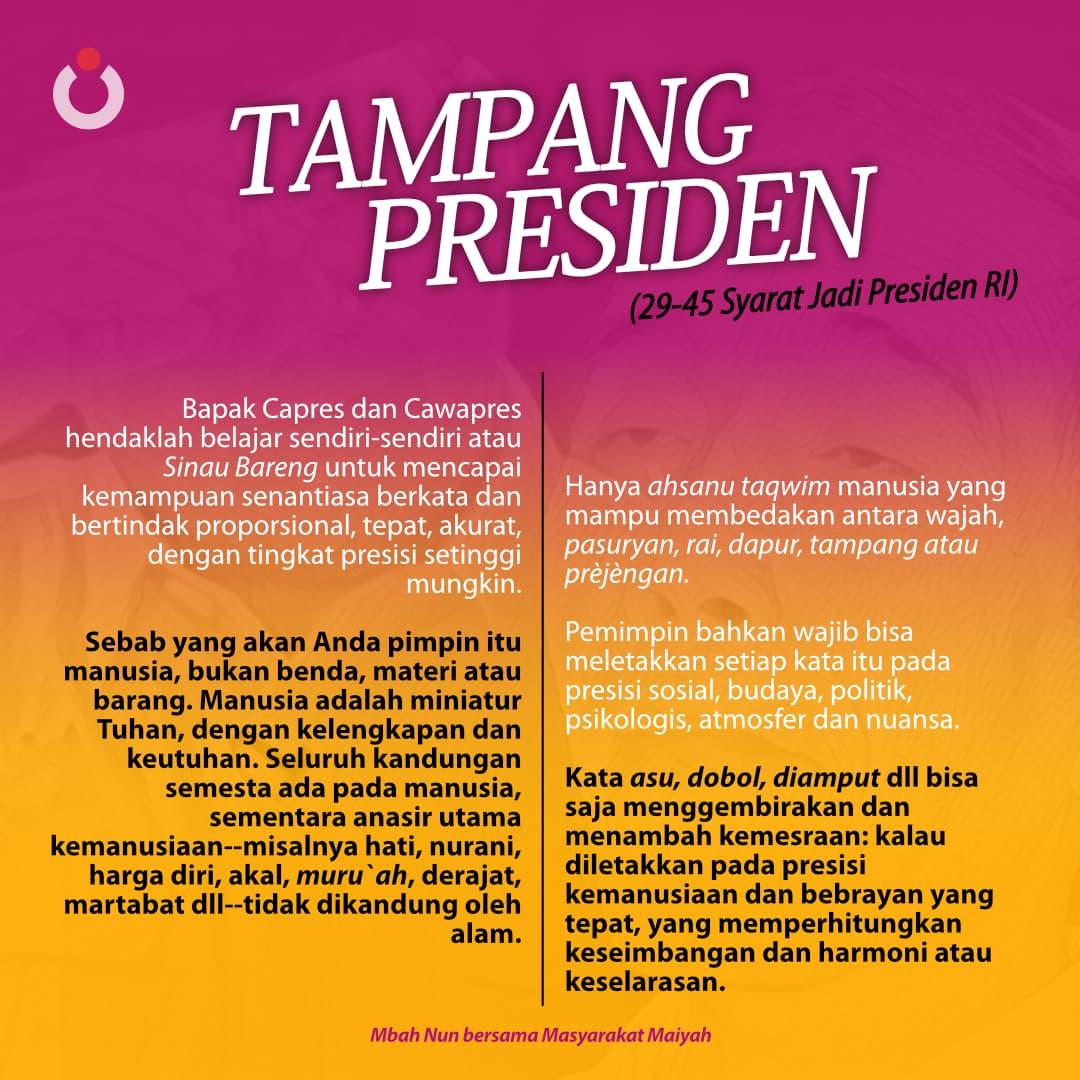 Tampang Presiden