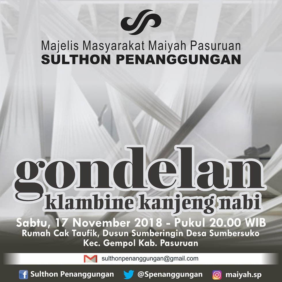 <em>Gondhelan Klambine</em> Kanjeng Nabi