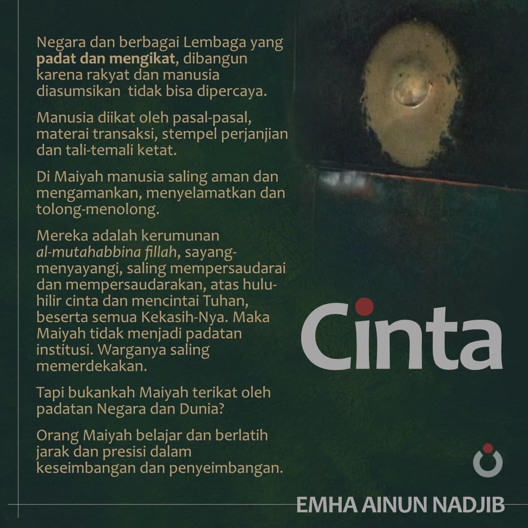 Puisi Cinta Emha Ainun Nadjib Celoteh Bijak