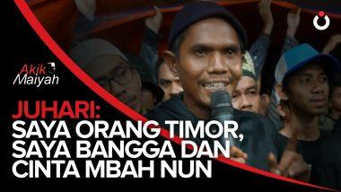 Juhari: Saya Orang Timor, Saya Bangga dan Cinta Mbah Nun