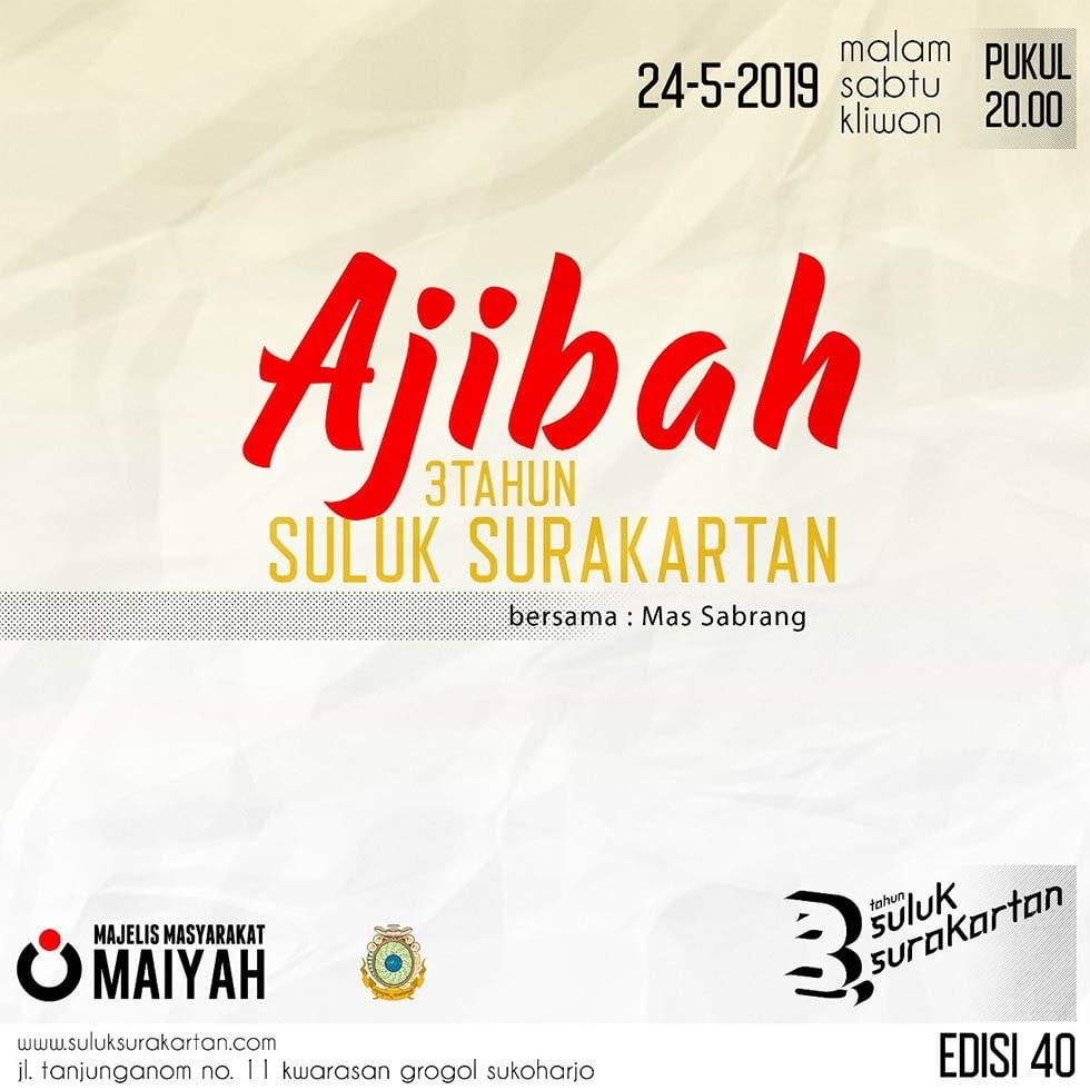 'Ajibah 3 Tahun Suluk Surakartan