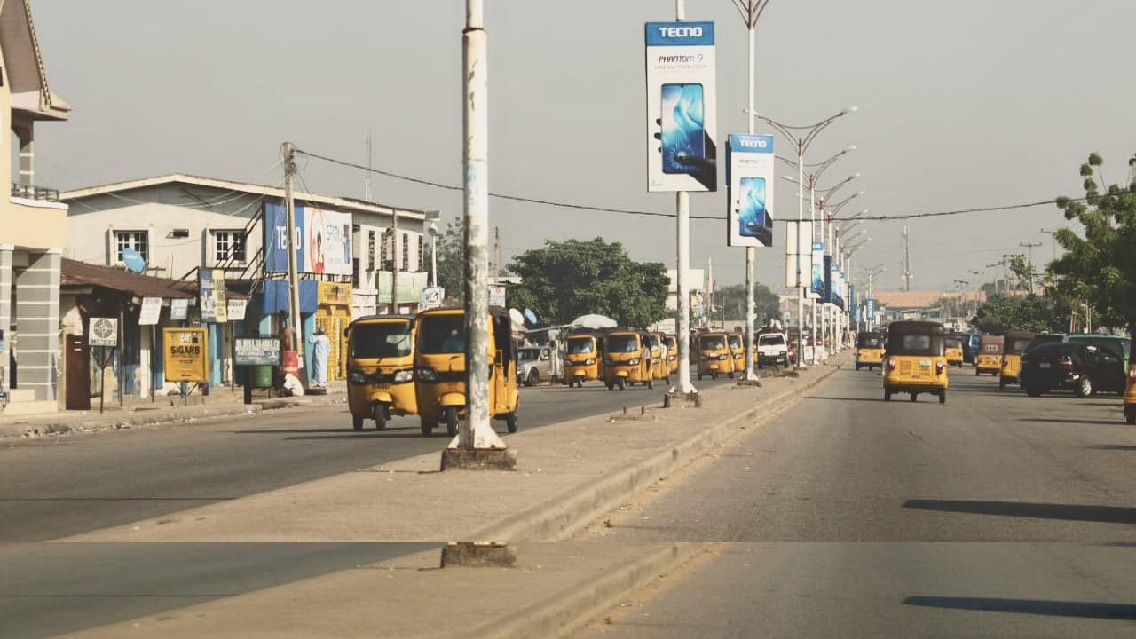 Salah satu bagian kota Yola, Adamawa State, Nigeria.