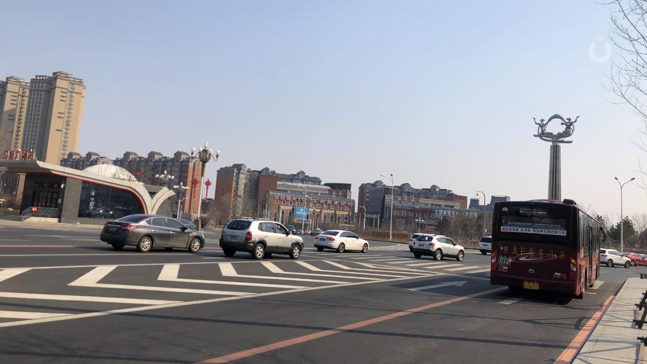 Jalan lengang kota Changchun, China saat pandemi Covid-19.