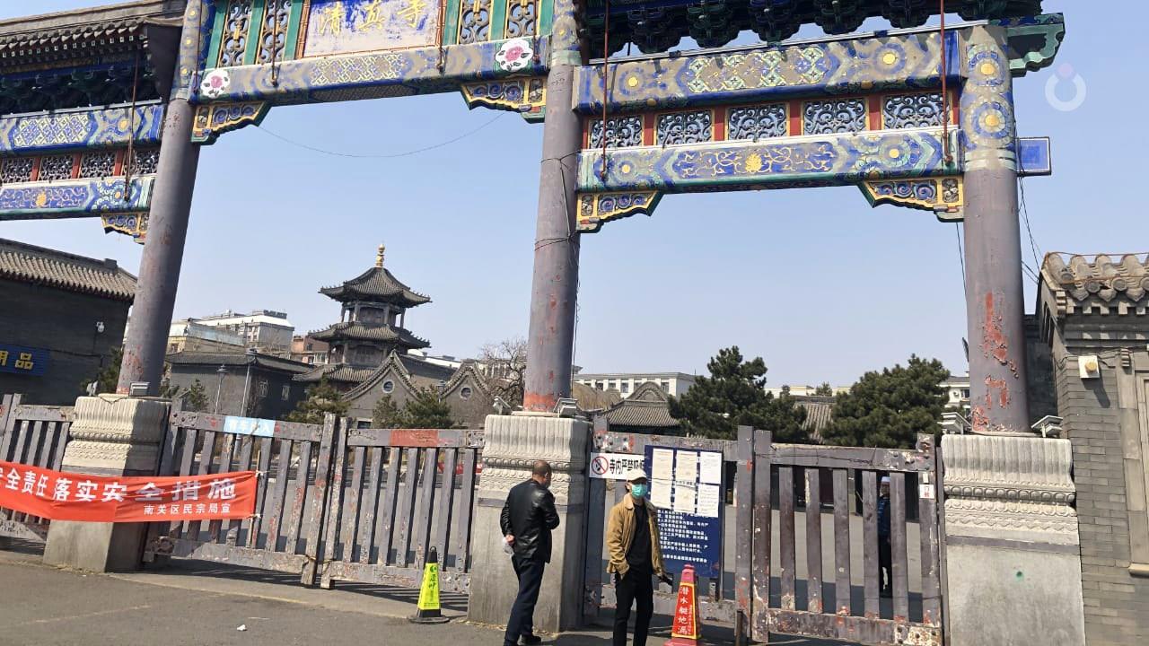 Suasana sepi di salah satu sudut kota Changchun, China saat pandemi Covid-19.